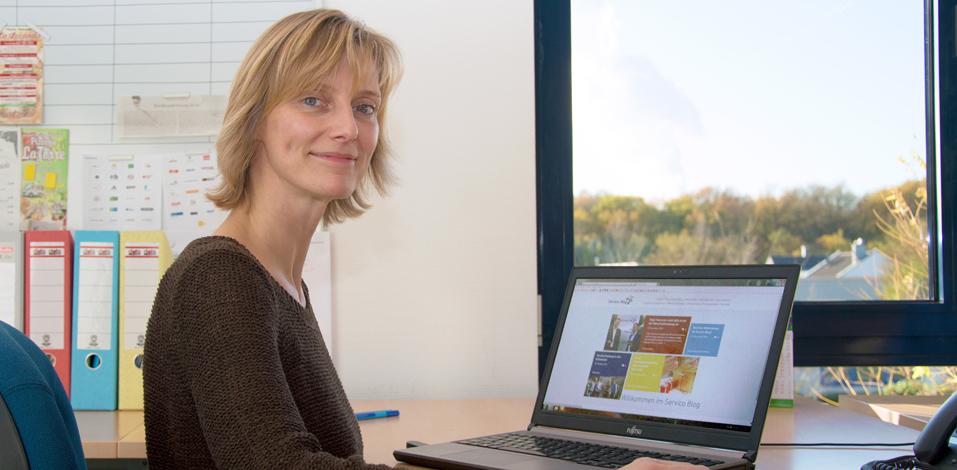 Annette Sund stellt den Servico Unternehmensblog online!