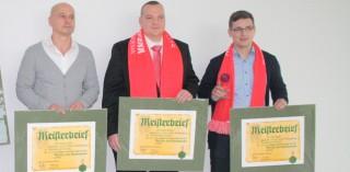 Sten Glaser von der Hago Dresden absolviert seine Meisterprüfung im Gebäudereinigerhandwerk.