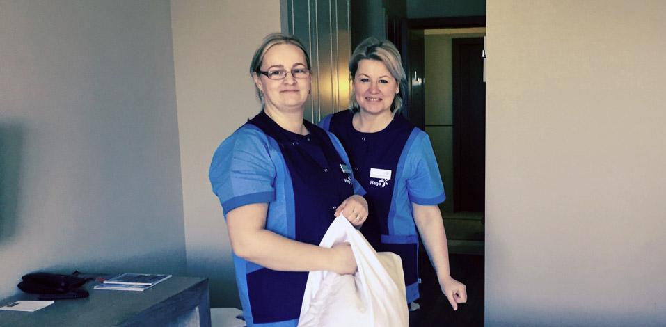 Im Steigenberger Strandhotel für das Housekeeping zuständig: Dorota Ertmanska (l.) und Ivonna Drobinska