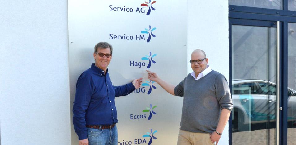 Sascha Schwärzell mit Hago Geschäftsführer und Vorstand der Holding Franz Wisniewski
