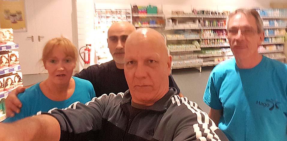 Schnelles Selfie vom Team (v.l.): Angela Mehrfeld, Mustafa Karaosmann, Michael Otto und Oliver Wrede.