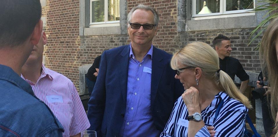 Christoph Rock von der M2 Personal sowie Ilona Seidel von der Firma Pflegeprofi Berlin